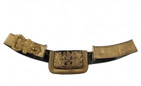 British Army Parade Belt - Early Victorian Royal
