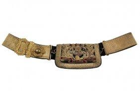 British Army Parade Belt - Early Victorian Royal