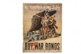 Original Wwii War Bond Poster Art - Rare Original