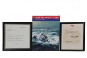 Wwii Us Convoy Book W/ Bradley & Rogge Letters - Copy