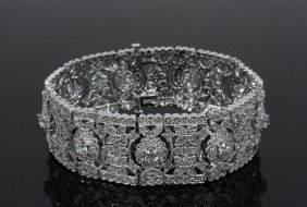 Bracelet - 14k White Gold & Diamond Edwardian Style