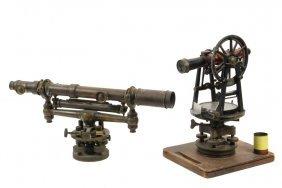 (2) Surveyor's Instruments - Both 19th C., Including: