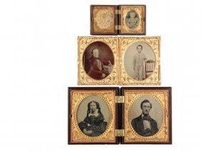 (3) 19th C Cased Photographs - All Circa Civil War Era,
