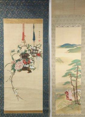 (2) Japanese Scrolls - Pre-war Period Scrolls, In