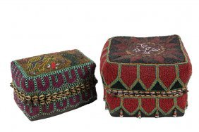 (2) Sumatran Beaded Wedding Baskets - Fully Beaded