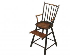 Child's Windsor Highchair - Late 18th To Early 19th C.