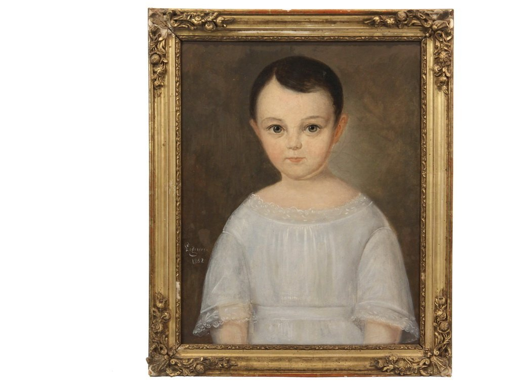 LEGENVRE (19th c. French) - Portrait of a Young Boy in