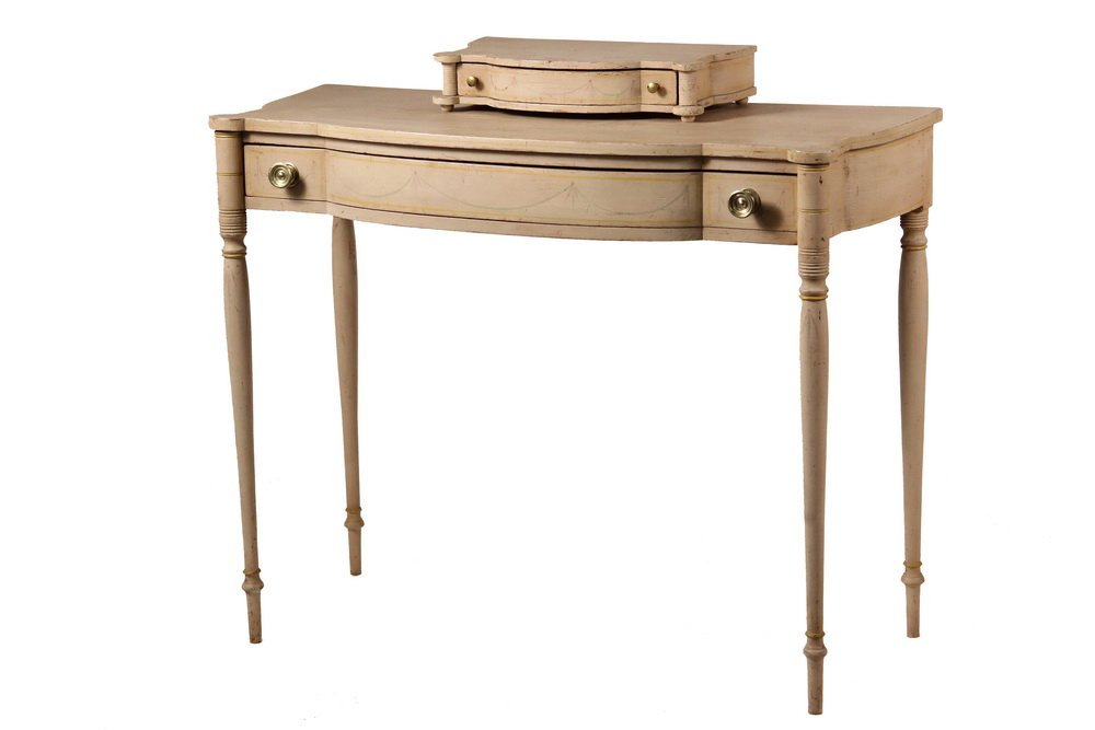 NEW ENGLAND DRESSING TABLE - Painted Sheraton Dressing