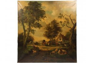 Monumental Mural - Architectural Scale 19th C. Pastoral