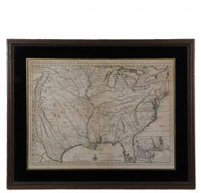 First Detailed Map Of The Mississippi River, Texas, New