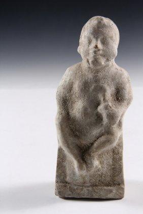 Ancient Roman Figurine - Terra Cotta Votive Figure Of