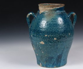 A Blue Islamic Pottery Vase - Antique Islamic Persian