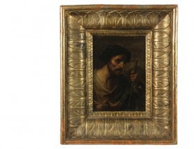 Old Master Painting - Half-length Portrait Of A Saint,