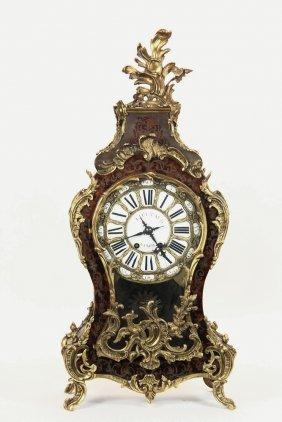French Boule Mantel Clock - Large Ornate Louis Xvi