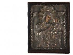 """Eastern Orthodox Icon - 19th C. """"bogorodica"""