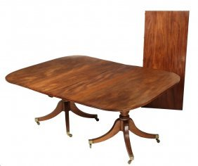 Dining Table - Period Mahogany Three-part Dining Table,