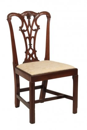 Chippendale Sidechair - Period Colonial Mahogany With