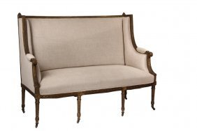 French Settee - 19th C. Petit Canape A Chapeau, Louis