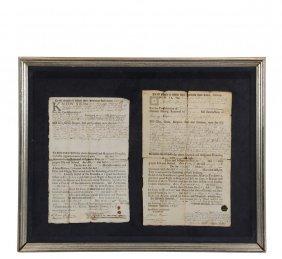 1733 Windsor & 1743 Hartford, Connecticut Deeds In One