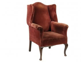 Wingchair - Duck Foot Upholstered Georgian Style