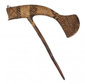Filipino Relic - 9th C. Woven Rattan And Wood Fish-form
