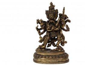 Asian Bronze Sculpture - Bronze Erotic Deity, Nepal, 6