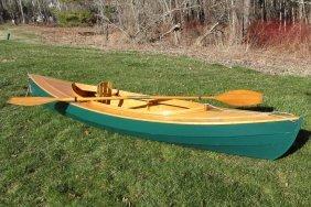 "Wooden Decked Canoe - ""fiddlehead"" Canoe Handcrafted By"
