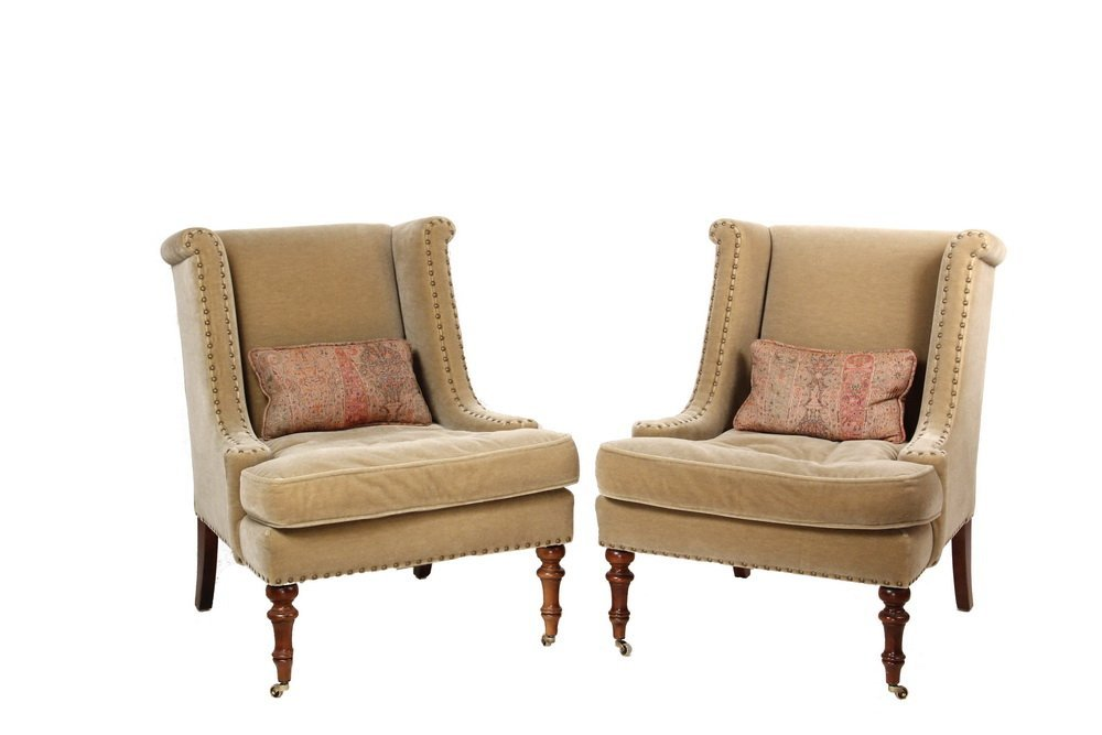"""PAIR OF DESIGNER CLUB CHAIRS - """"Wentworth"""" Chairs by"""