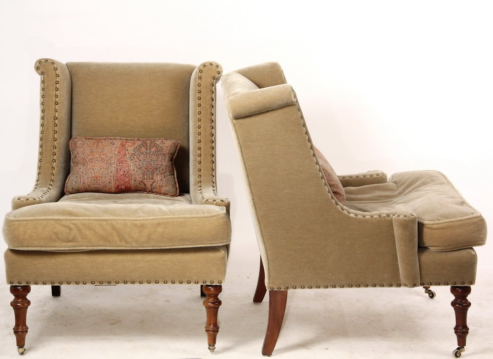 """PAIR OF DESIGNER CLUB CHAIRS - """"Wentworth"""" Chairs by - 2"""