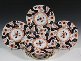 English Fine China Plates - Set Of (10) Royal Crown