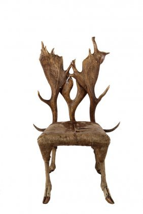 Child's Antler Chair - Diminutive Chair Constructed
