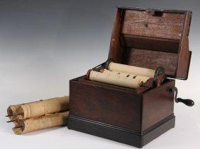 "Gately Tabletop Organ W/ (5) Paper Rolls - ""melodia"""