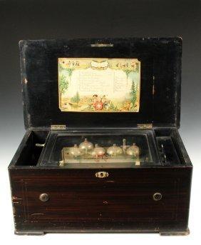 Swiss Music Box - 8 Tune Music Box With Six Bells