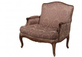 French Bergere Armchair - 19th C. Fully Upholstered In