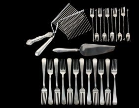 Flatware - (25) Pcs Of Sterling Silver Flatware,