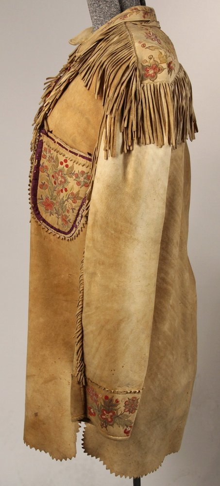 NATIVE AMERICAN CLOTHING - Fine Metis Cree Embroidered - 4