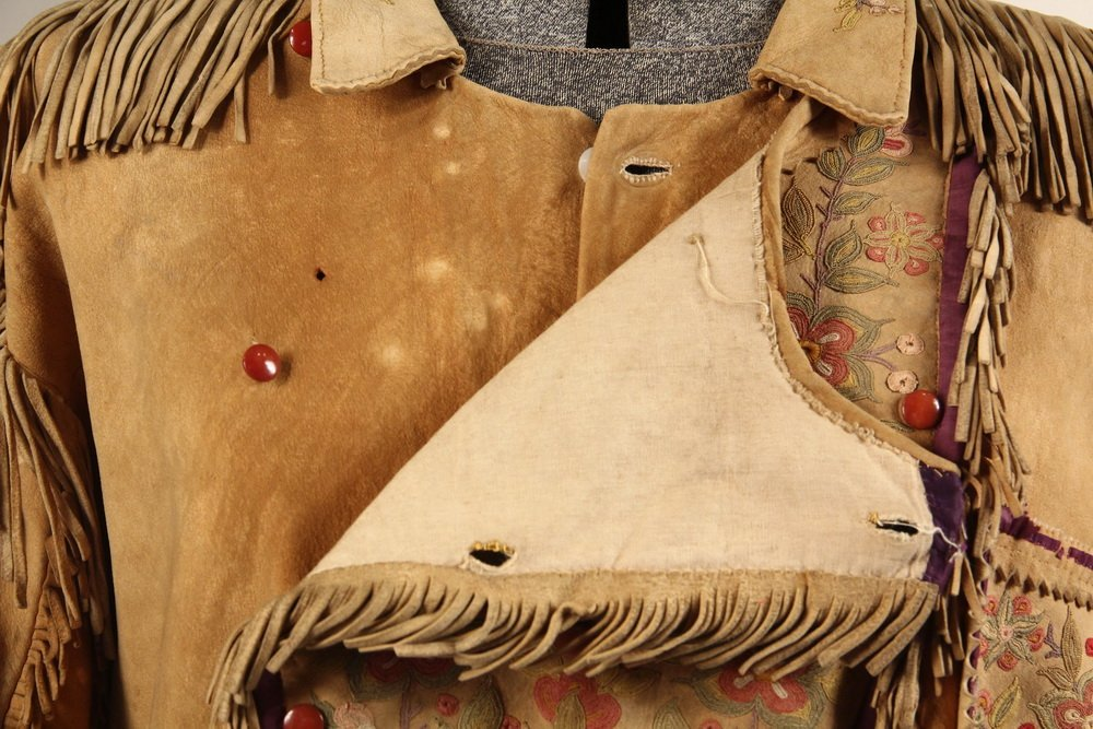 NATIVE AMERICAN CLOTHING - Fine Metis Cree Embroidered - 8