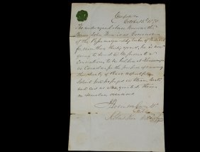 Rare Native American Document Of Passage - October Of