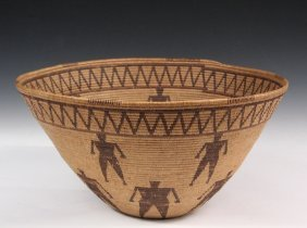 Fine Native American Basket - Large Yokuts 'friendship'