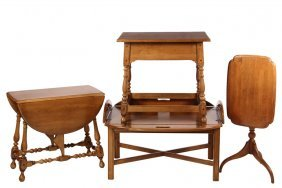 (4 Pcs) Ethan Allen Furniture - Quality Solid Maple,