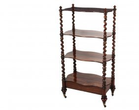 English Four-tier Rosewood Etagere - Victorian Display