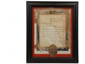 Col. Elmer Ellsworth Wartime Letter - May 9th, 1861