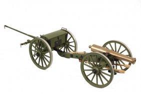 Working Model Of Civil War Artillery Piece With Limber
