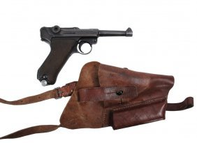 Wwii Pistol With Holster - German Mauser Luger P-08, 9