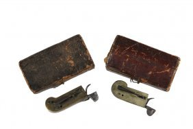 (2) Colonial Medical Devices - 18th C. Brass And Steel
