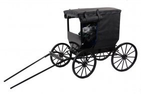 Scale Model Amish Buggy - Buggy Made To Scale And Of