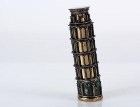 Very Unusual Italian Silver Lipstick Holder - In The