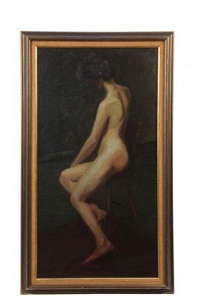 Boston School Artist - Early 20th C. Study Of A Nude