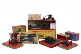 Collection Of (10) Britain's Toy Cannons - (7) In Boxes