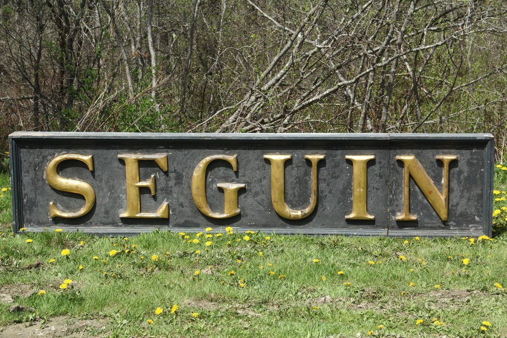 SEGUIN SIGN - Sign from the Light Station, or possibly